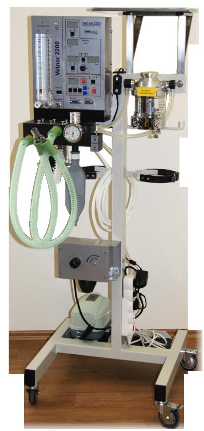 Narkotizačný prístroj pre inhalačnú anestézu VETNAR 2100